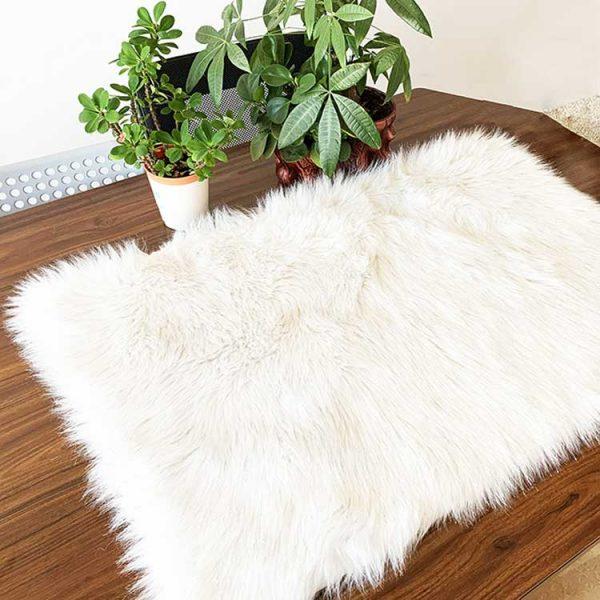 small-white-fluffy-rug