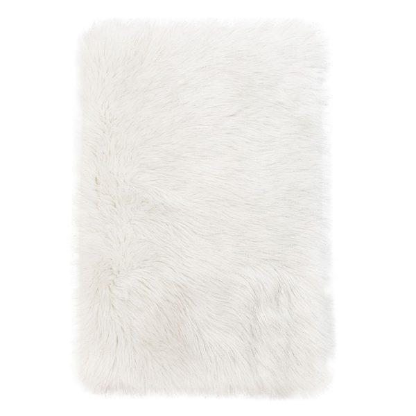 white fluffy area rug 1