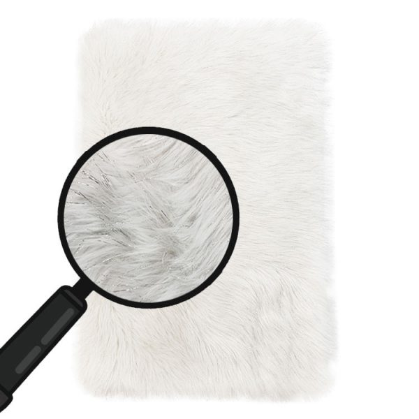 white fluffy rug for bedroom